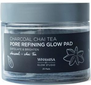 Whamisa by Glow Studio Charcoal Chai Tea Pore Refining Glow Pad