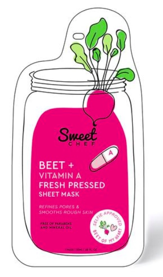 Sweet Chef Beet + Vitamin A Fresh Pressed Sheet Mask