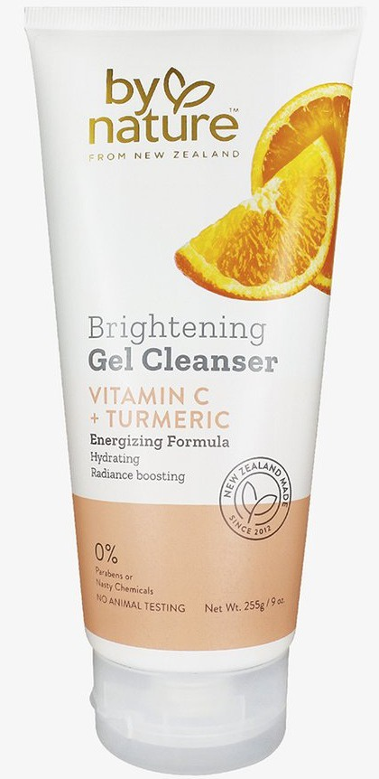 By Nature Brightening Gel Cleanser With Vitamin C + Turmeric