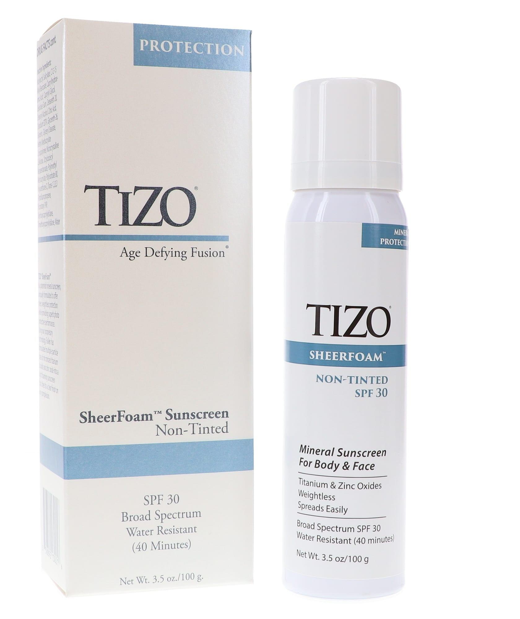 Tizo SheerFoam Body & Face Sunscreen non-tinted