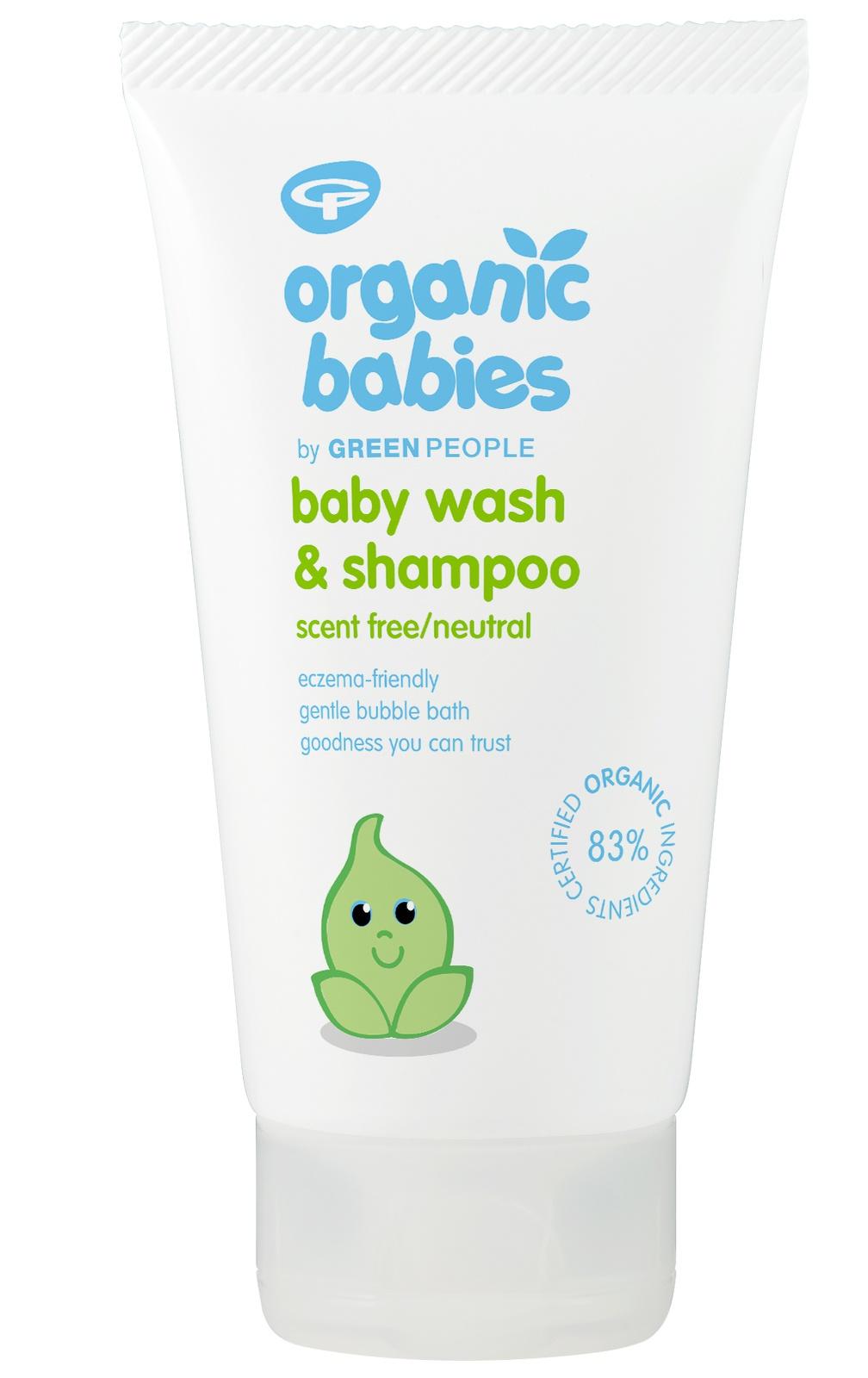 Green People Organic Babies Baby Wash & Shampoo - Scent Free