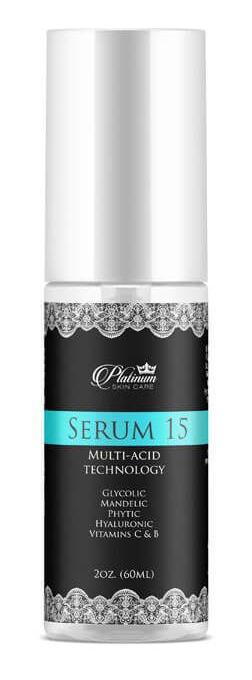 Platinum Skin Care Serum 15 | Glycolic | Mandelic | Phytic | C