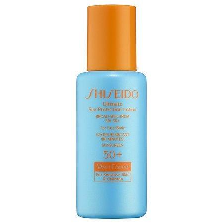 Shiseido Ultimate Sun Protection Lotion Broad Spectrum Spf 50+ Wetforce For Sensitive Skin & Children