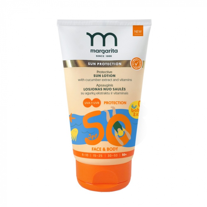 Margarita Protective Sun Lotion With Cucumber Extract And Vitamins