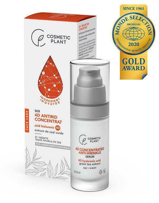 Cosmetic Plant 4D - Ser Antirid Concentrat Cu Acid Hialuronic 4D & Extract De Ceai Verde