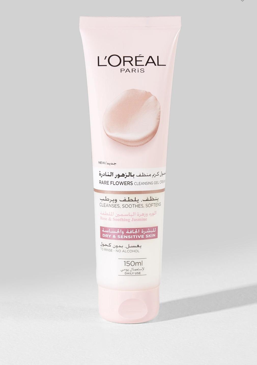L'Oreal Paris Rare Flowers Cleansing Gel Cream, Dry And Sensitive Skin
