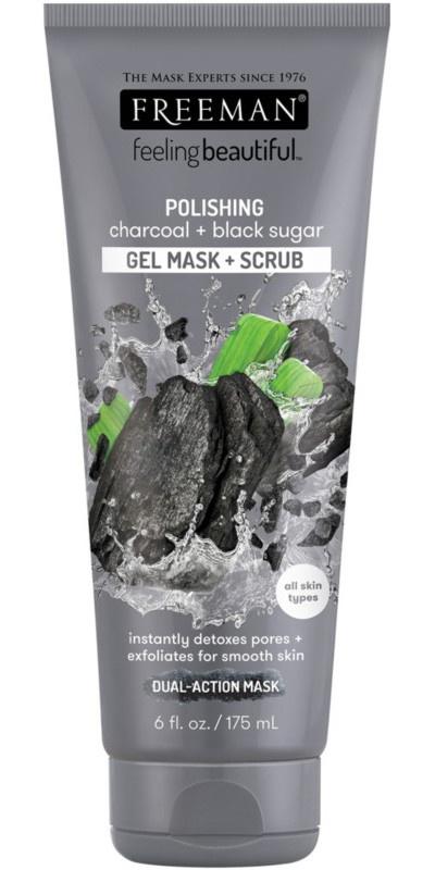 Freeman Charcoal & Black Sugar Gel Mask & Scrub