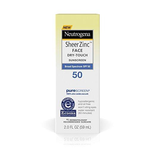 Neutrogena Sheer Zinc Face Dry-Touch Sunscreen Broad Spectrum Spf 50