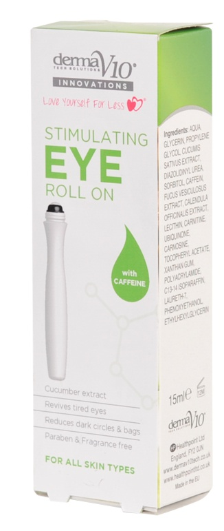Derma V10 Stimulating Eye Roll On With Caffeine