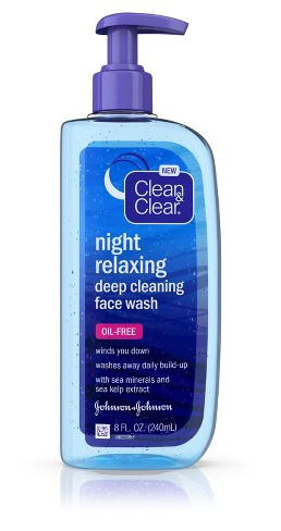 Clean And Clear Night Relaxing Face Deep Cleaning Face Wash