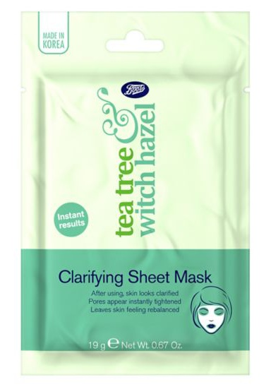 Boots Tea Tree & Witch Hazel Clarifying Sheet Mask