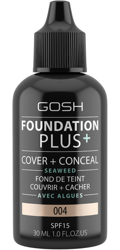 Gosh Foundation Plus+ Cover And Conceal Seaweed Spf 15