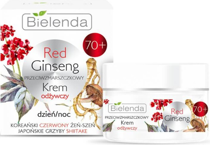 Bielenda Red Ginseng | 70+ Anti-Wrinkles Nourishing Face Cream Day/Night