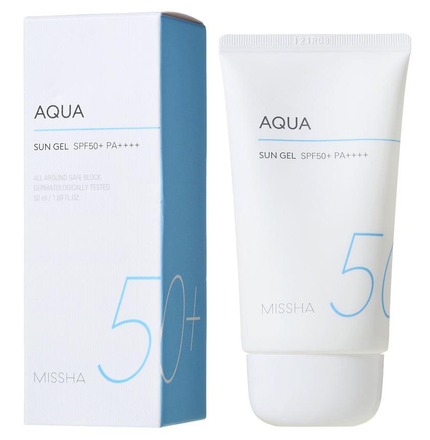 Missha All Around Safe Block Aqua Sun Gel SPF 50+ Fragrance Free