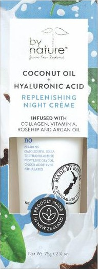 By Nature Coconut Oil + Hyaluronic Acid Replenishing Night Creme