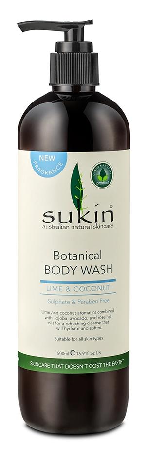 Sukin Botanical Body Wash | Lime & Coconut
