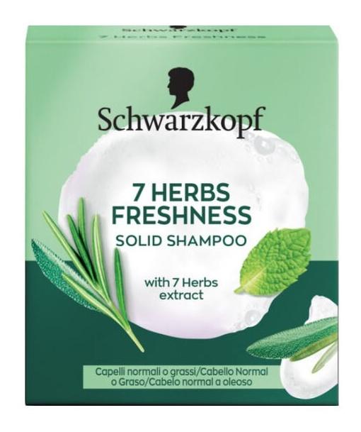 Schwarzkopf 7 Herbs Freshness Solid Shampoo