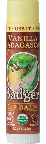 Badger Classic Organic Lip Balm - Vanilla Madagascar