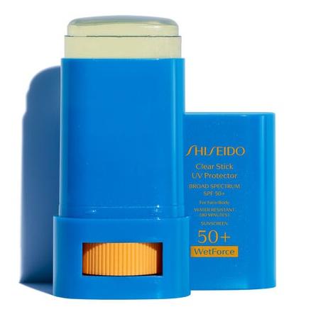 Shiseido Clear Stick Uv Protector Wetforce Broad Spectrum Sunscreen Spf 50+