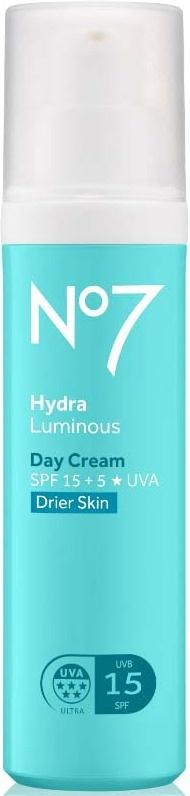 Boots No7 No7 Hydraluminous Day Cream Spf 15 Drier Skin