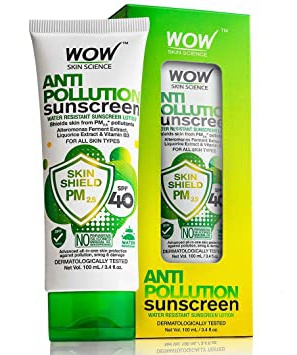WOW skin science Anti Pollution  Sunscreen Lotion Spf 40