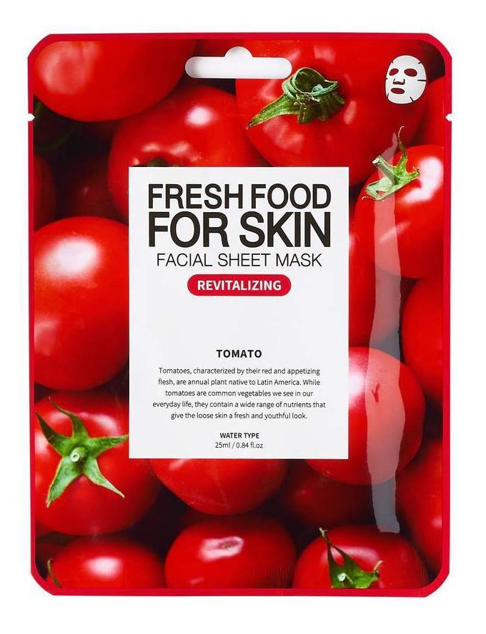 Farm Skin Fresh Food For Skin Facial Sheet Mask Tomato: Revitalizing