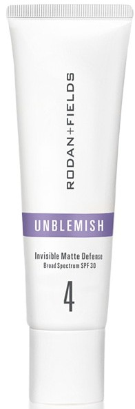 Rodan + Fields Unblemish Sunscreen Invisible Matte Defense Protection SPF 30