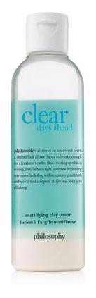 Philosophy Clear Days Ahead Mattifying Clay Facial Toner