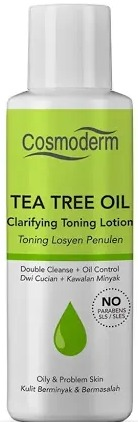 cosmoderm Tea Tree Oil Clarifying Toning Lotion 100Ml