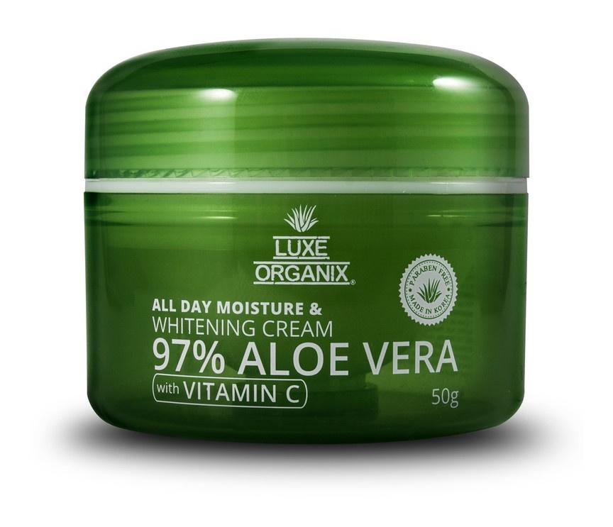 Luxe Organix 97% Aloe Vera All Day Moisture And Whitening Cream With Vitamin C