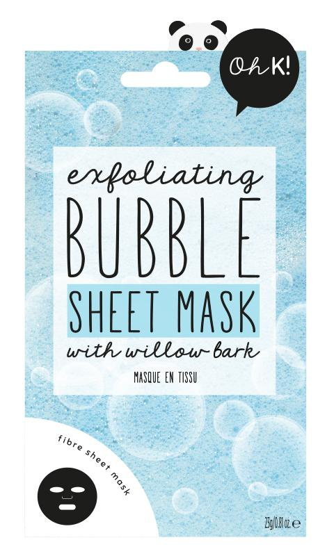 OhK! Exfoliating Bubble Sheet Mask With Willow Bark