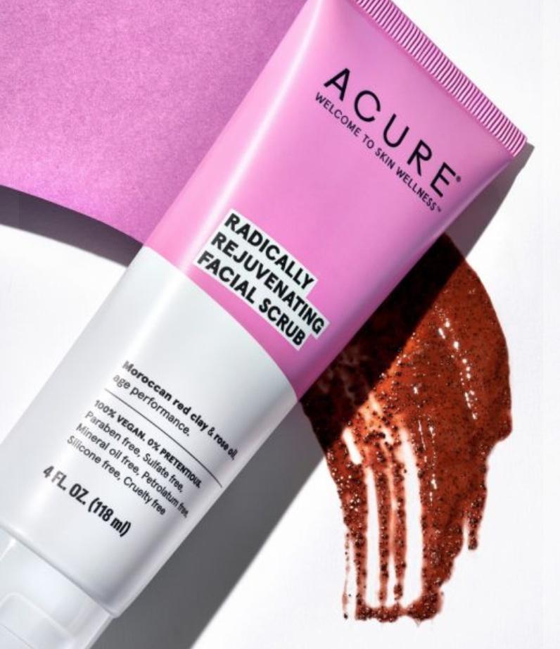 Acure Radically Rejuvenating Facial Scrub Ingredients