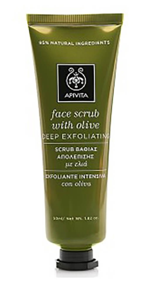 Apivita Face Scrub For Deep Exfoliation With Olive