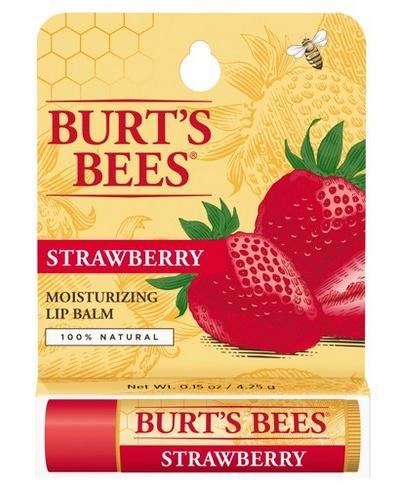 Burt's Bees Strawberry Moisturizing Lip Balm