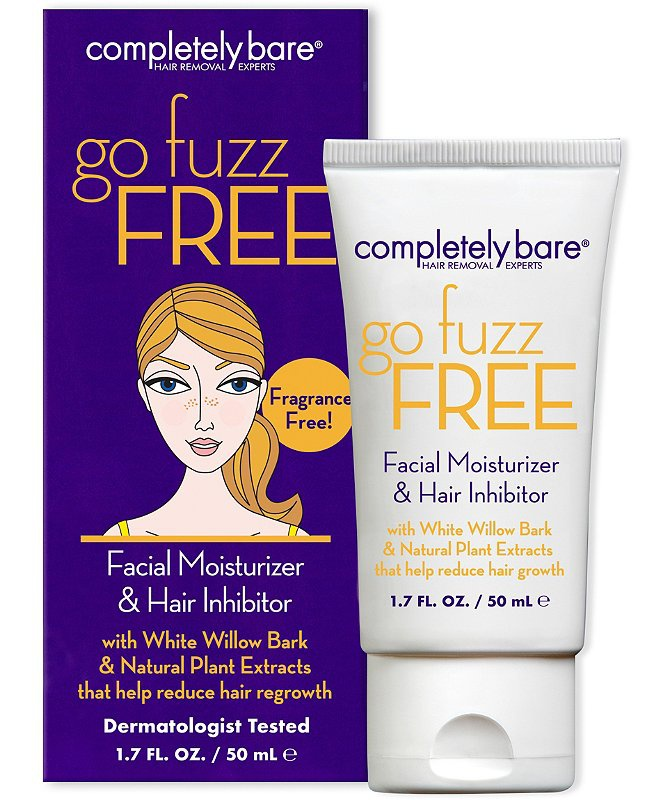 Completely Bare Go Fuzz Free Facial Moisturizer & Hair Inhibitor Fragrance Free