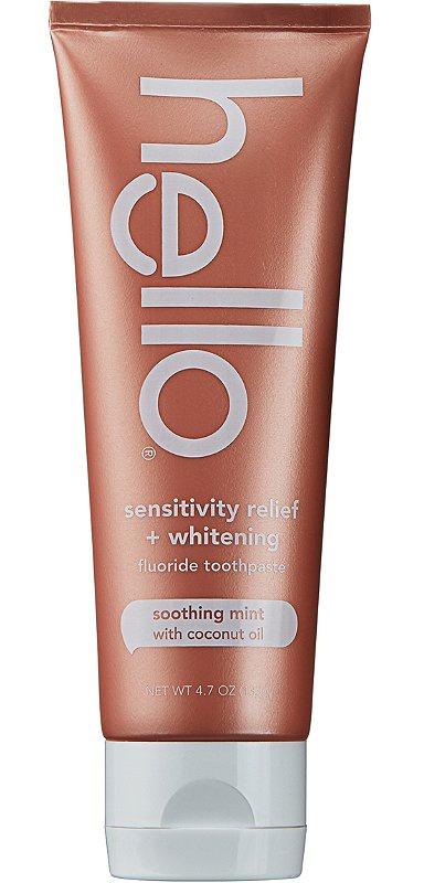 Hello Sensitivity Relief + Whitening Fluoride Toothpaste
