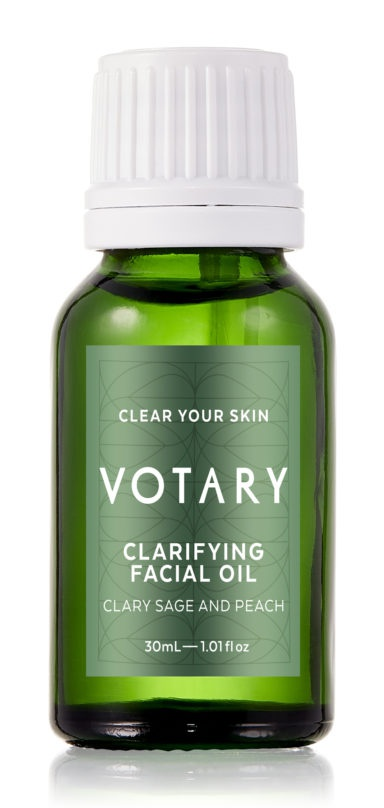 Votary Clarifying Facial Oil - Clary Sage And Peach