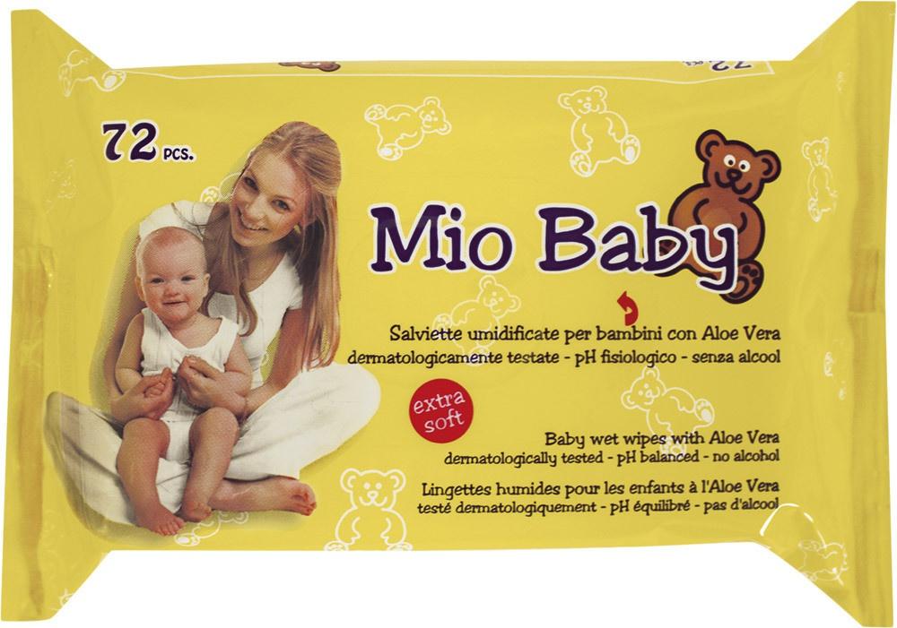 Mio Baby Salviette umidificate per bambini con Aloe Vera