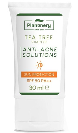 Plantnery Tea Tree Sunscreen Acne Oil Control Spf50 Pa+++