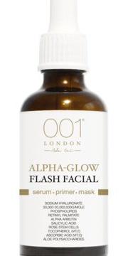 001 skincare Alpha-Glow Flash Facial Serum-Primer-Mask
