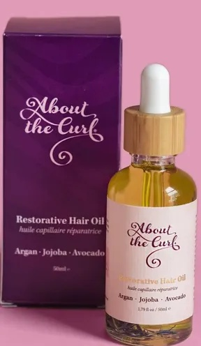 About the curl Restorative Hair Oil