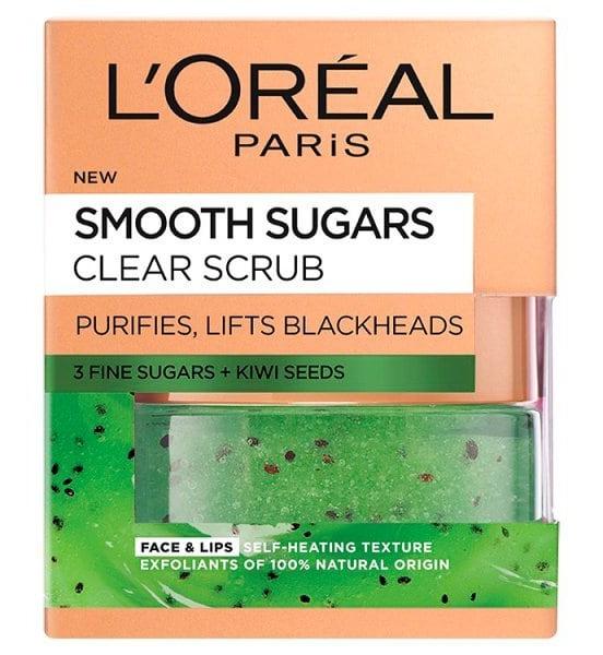 L'Oreal Smooth Sugar Clear Kiwi Face & Lip Scrub