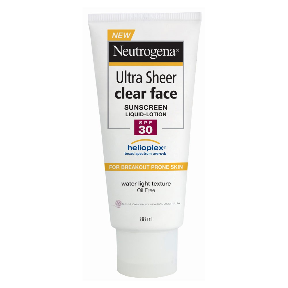 Neutrogena Ultra Sheer Clear Face Sunscreen Lotion Spf 30