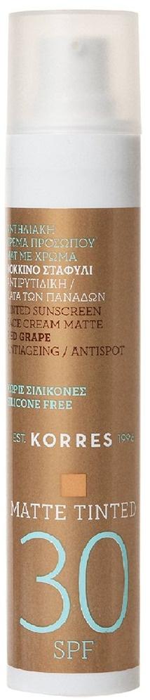 Korres Red Grape Anti-ageing/anti-spot Tinted Matte Suncreen SPF30
