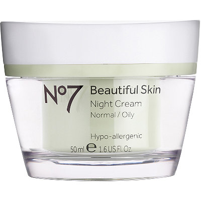 No7 Beautiful Skin Night Cream Normal/Oily Skin