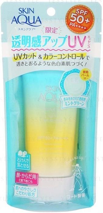 Rohto Mentholatum Skin Aqua Tone Up Uv Essence Spf 50+ Pa++++ -Mint