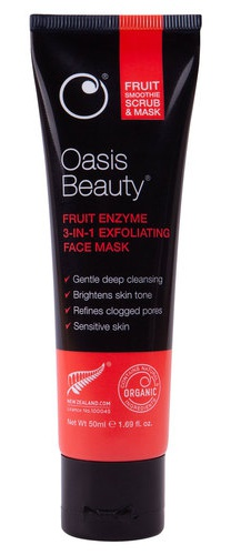 Oasis Beauty Fruit Smoothie 3-In-1 Enzyme Exfoliating Face Mask & Scrub