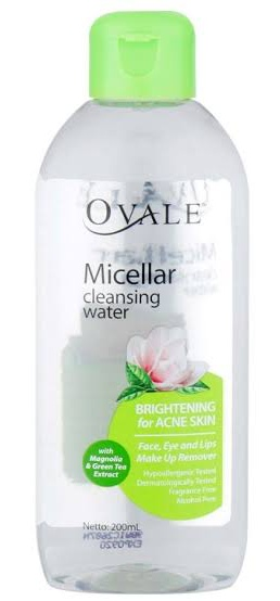 OVALE Micellar Cleansing Water Brightening For Acne Skin
