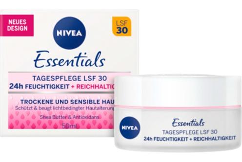 Nivea Tagespflege Lsf 30 24H Feuchtigkeit + Reichahltigkeit Trockene Haut/Empfindliche Haut