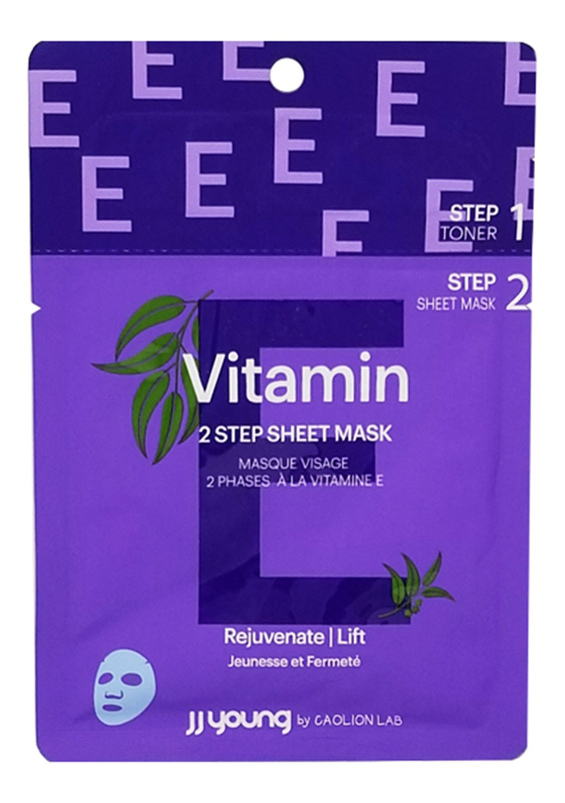 JJ young by CAOLION LAB Rejuvenate Lift Vitamin E 2 Step Sheet Mask